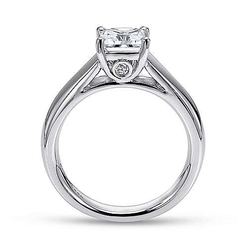 Mya 14k White Gold Princess Cut Solitaire Engagement Ring