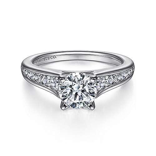 Gabriel - Nicola Platinum Round Straight Engagement Ring
