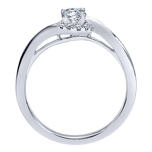 Nigela 14k White Gold Round Halo Engagement Ring angle 2
