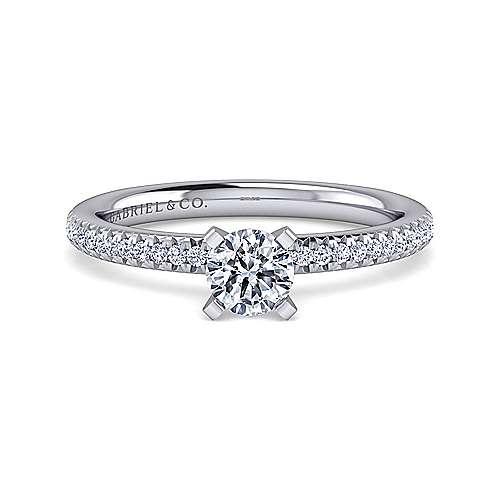 Gabriel - Oyin 14k White Gold Round Straight Engagement Ring