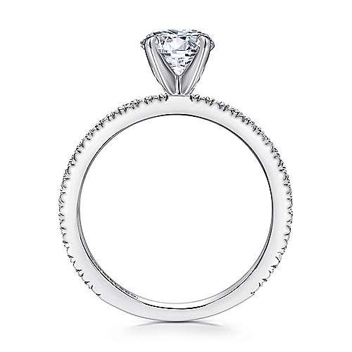 Oyin 14k White Gold Round Straight Engagement Ring angle 2