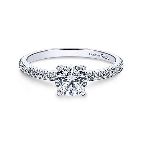 Gabriel - Oyin 18k White Gold Round Straight Engagement Ring