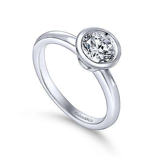 Palmer 14k White Gold Round Solitaire Engagement Ring