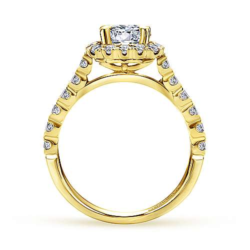 Parker 14k Yellow Gold Round Halo Engagement Ring angle 2