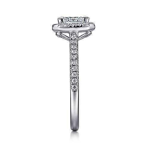Patience Platinum Princess Cut Halo Engagement Ring angle 5