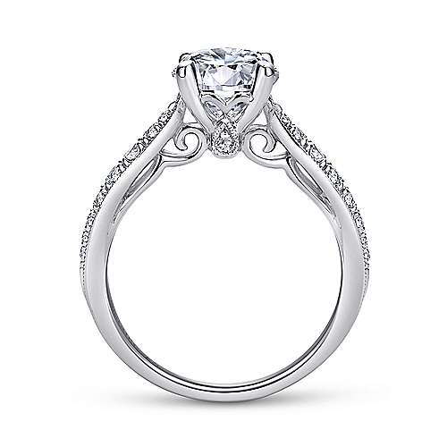 Peregrine 18k White Gold Round Straight Engagement Ring