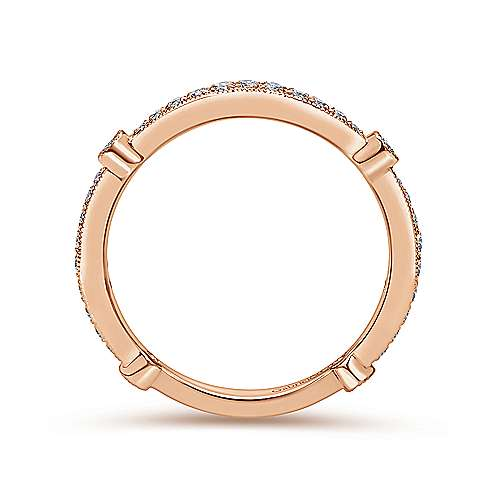 Pink Gold Wed. Band  angle 2