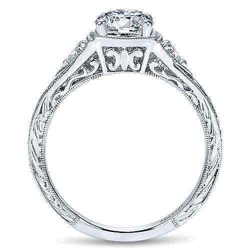Plat. Diamond Engagement Ring   angle 2