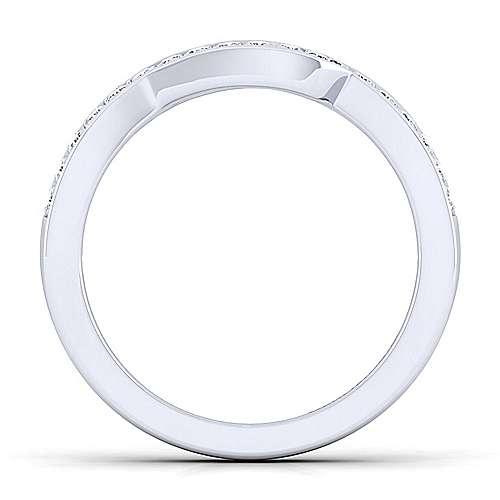 Platinum Contemporary Curved Wedding Band angle 2