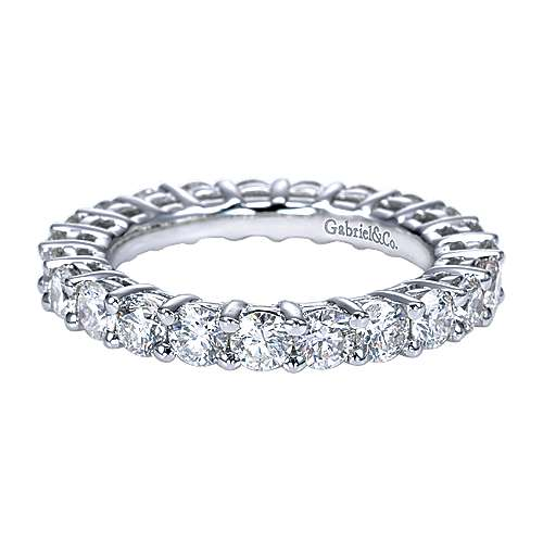 Platinum Contemporary Eternity Band Anniversary Band angle 1