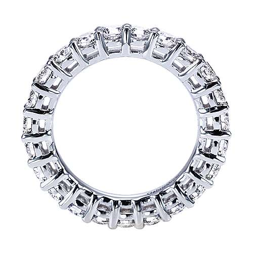 Platinum Contemporary Eternity Band Anniversary Band angle 2