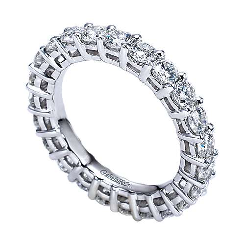 Platinum Contemporary Eternity Band Anniversary Band angle 3
