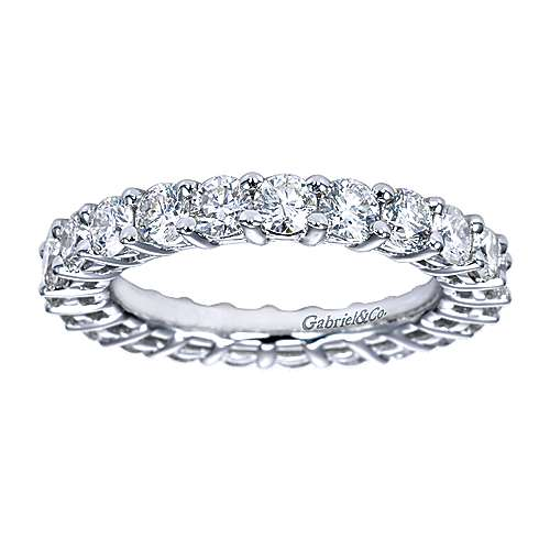 Platinum Contemporary Eternity Band Anniversary Band angle 5