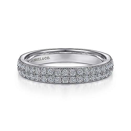 Gabriel - Platinum Contemporary Fancy Anniversary Band