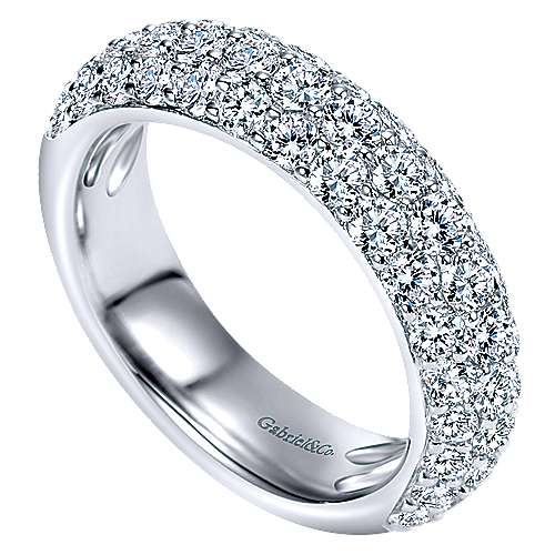 Platinum Contemporary Fancy Anniversary Band angle 3