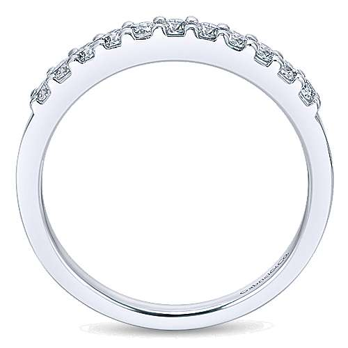 Platinum Contemporary Straight Anniversary Band angle 2