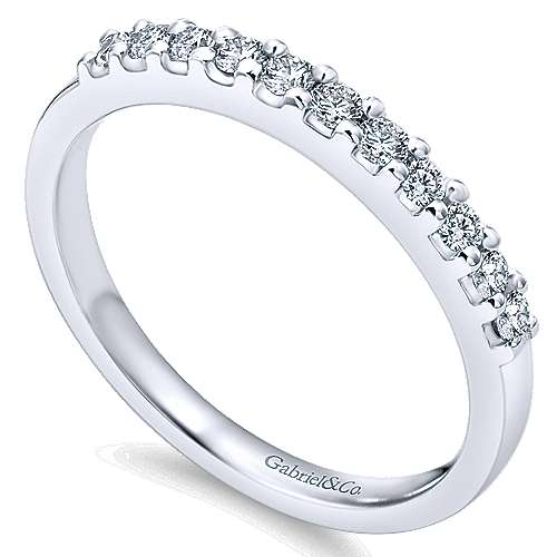 Platinum Contemporary Straight Anniversary Band angle 3