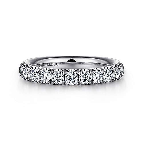 Platinum Contemporary Straight Anniversary Band angle 1