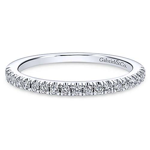 Platinum Contemporary Straight Wedding Band angle 1