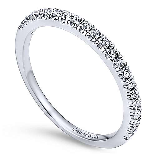 Platinum Contemporary Straight Wedding Band angle 3
