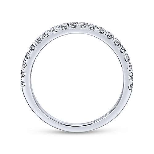 Platinum Contemporary Straight Wedding Band angle 2