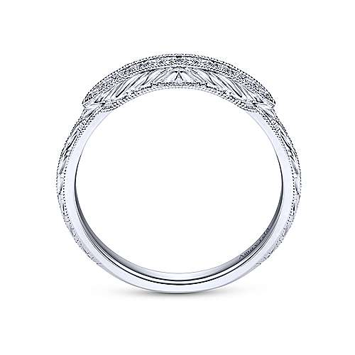 Platinum Diamond Curved Wedding Band angle 2