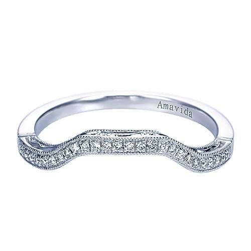 Gabriel - Platinum Victorian Curved Wedding Band