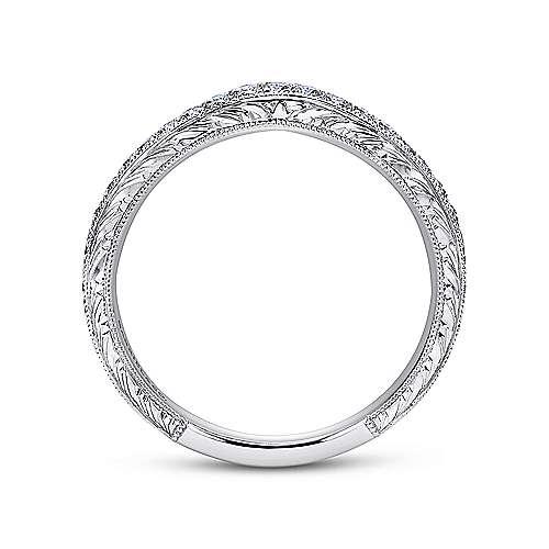 Platinum Diamond Curved Wedding Band angle 2