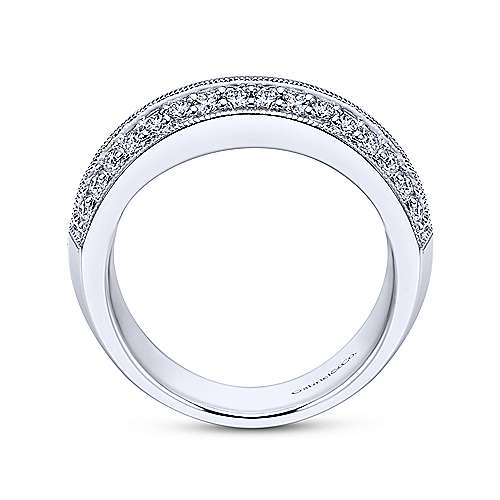 Platinum Diamond Fancy Anniversary Band angle 2