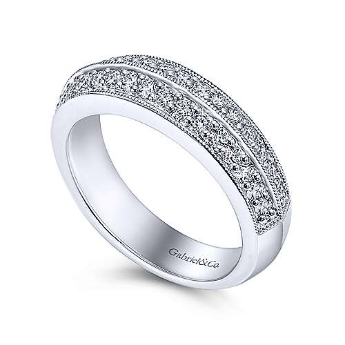 Platinum Diamond Fancy Anniversary Band angle 3