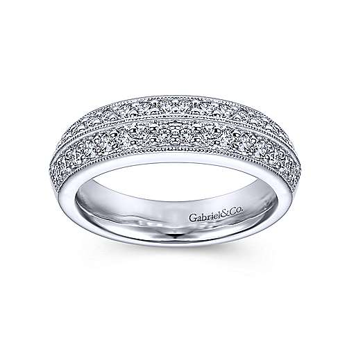 Platinum Diamond Fancy Anniversary Band angle 4