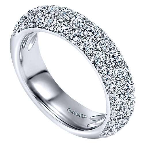 Platinum Diamond Fancy Anniversary Band angle 3