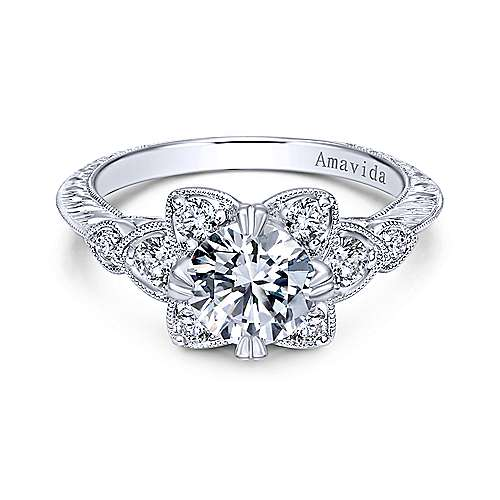 Gabriel - Platinum Victorian Engagement Ring