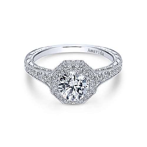 Gabriel - Platinum Victorian Engagement Ring