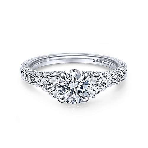 Gabriel - Platinum Round Straight Engagement Ring