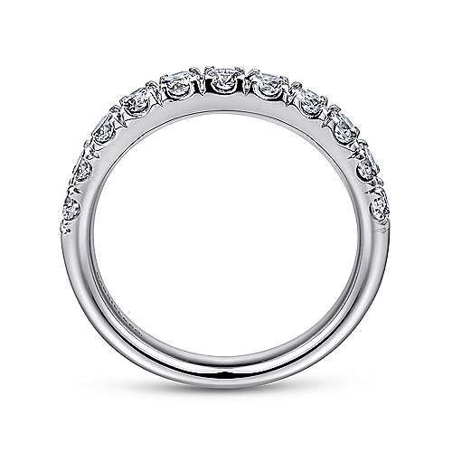 Platinum French Pavé Set Band