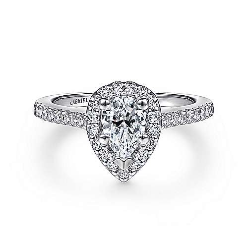 b1403859a Platinum Pear Shape Halo Diamond Engagement Ring | ER5828PT4JJ ...