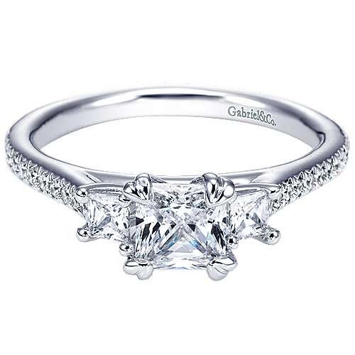 Platinum Princess Cut 3 Stones