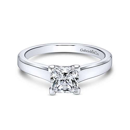 Gabriel - Platinum Princess Cut Solitaire Engagement Ring