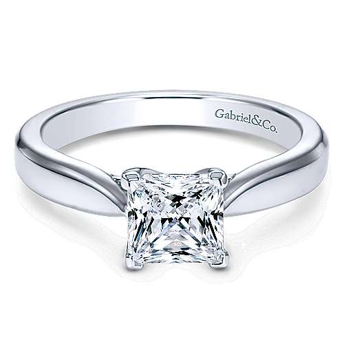 platinum princess cut solitaire engagement ring er6596ptjjj