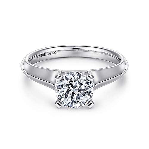 Gabriel - Platinum Round Solitaire Engagement Ring