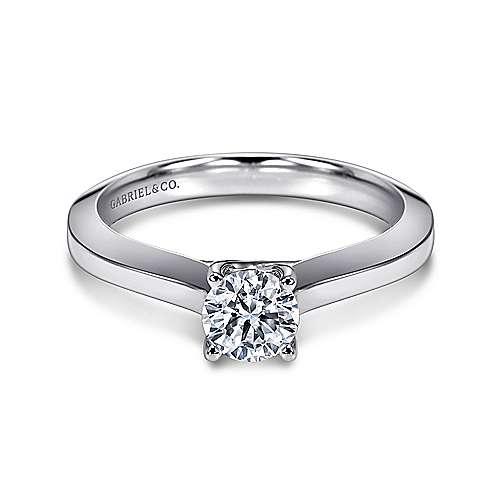 Gabriel - Platinum Round Solitaire Engagement Ring