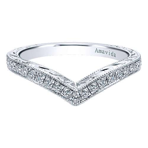 Gabriel - Platinum Victorian Curved Wedding Band