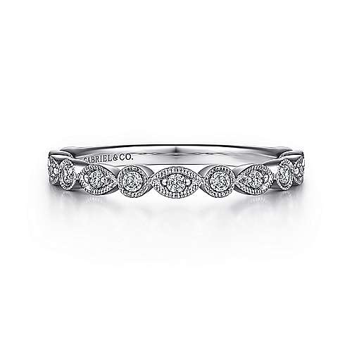 Platinum Victorian Fancy Anniversary Band angle 1
