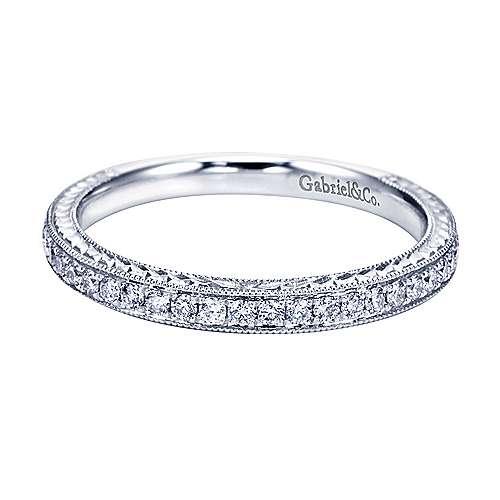 Gabriel - Platinum Victorian Straight Wedding Band