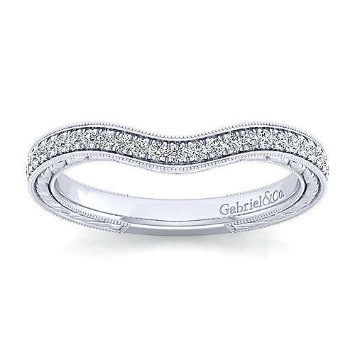 Platinum Victorian Straight Wedding Band angle 5