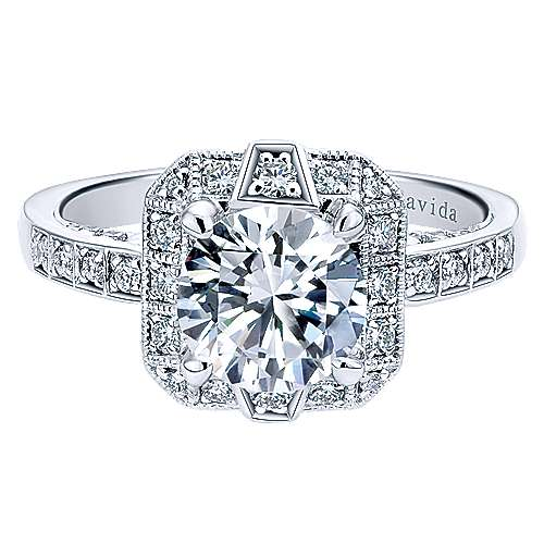 Gabriel - Prosper 18k White Gold Round Halo Engagement Ring