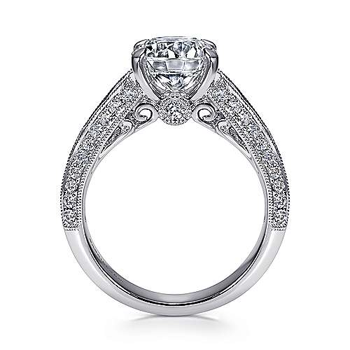 Rebecca 14k White Gold Round Straight Engagement Ring angle 2
