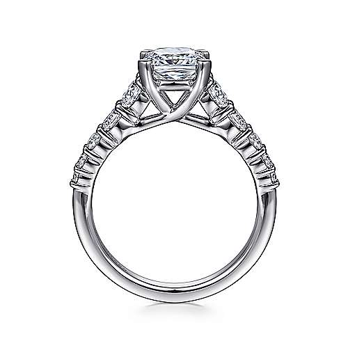 Reed 14k White Gold Cushion Cut Straight Engagement Ring angle 2