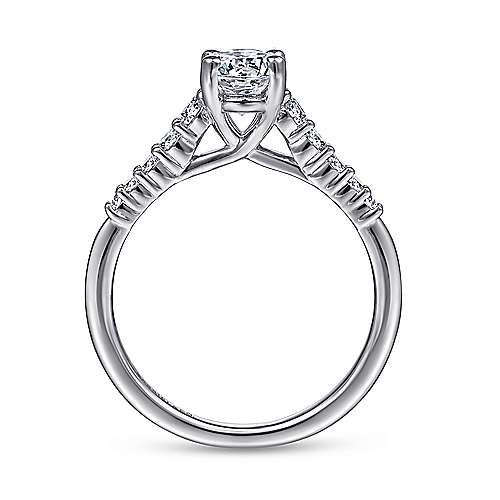 Reed 14k White Gold Oval Straight Engagement Ring angle 2